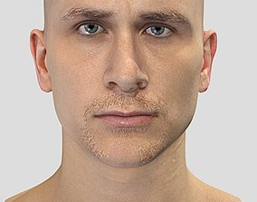 3D asset Full SCANNED head with facial Rig