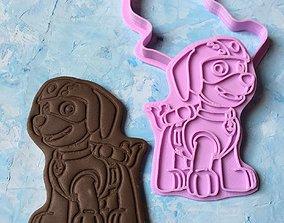 Paw Patrol Cookie Cutter Details Zuma 3D print model