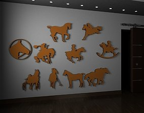 3D printable model Horse silhouettes