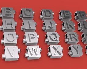 CUBE 3D letters STL file