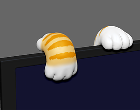 3D printable model Cute Cat Feet for Monitor Climb STL for