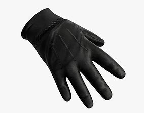 Leather Gloves 3D asset