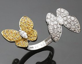 jewelry Butterfly 2 ring 3dm and stl