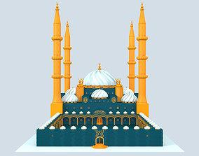 3D Ottoman Classic Mosque Design