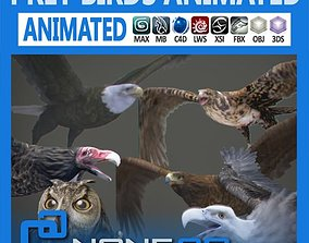 3D model Pack - Prey Birds Animated