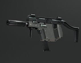Kriss Vector submachine guns automatic machine 3D model