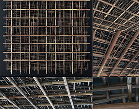3D model Ceiling bamboo branch cage decor n1