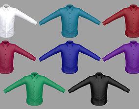 Shirt 3D model low-poly