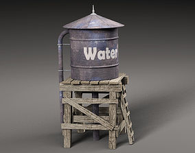 3D model low-poly Water Tower