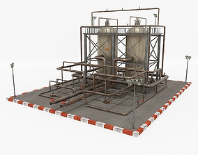 3D asset Oil Refinery 1