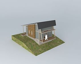 3D model chairlift smallhouse Small vacation cottage