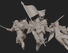 Presupported Battle Angels and 3D printable model 2