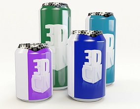 Beverage cans 250ml 330ml 440ml 500ml with 3D model 2