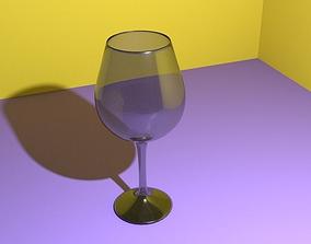 3D Realistic Wineglass