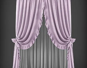 Curtain 3D model 243 low-poly