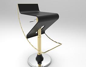 Pinch Bar stool 3D asset