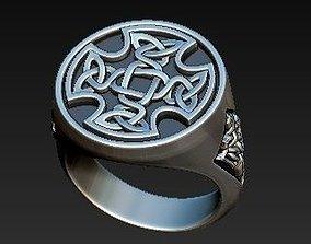 ring SIGNET celtic 3D print model