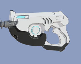 3D asset Tracers Lasergun from Overwatch