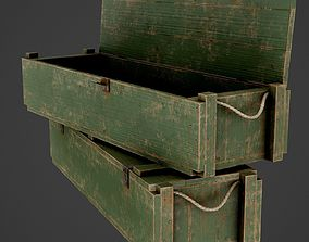 3D model Painted Wooden Ammo Box - PBR Game-Ready