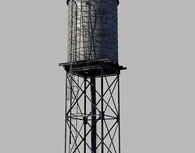 3D asset VR / AR ready water tower