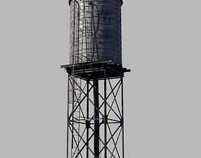 3D asset VR / AR ready water tower