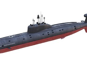 Nuclear Powered Attack Submarine Akula Class 3D model