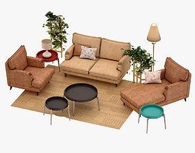 interior 3D Living Room Set
