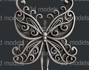 vcarve 3d STL models for CNC router woman butterfly