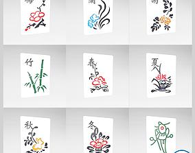 Mahjong V1 Pack 04 3D asset