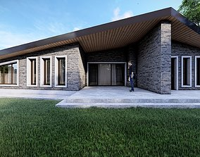 3D model Stone House - Single Story Residential Building