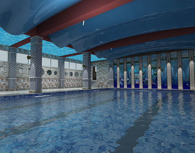 indoor pool for school traning 3D model
