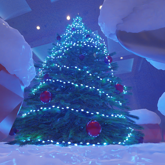 Low-Poly Christmas Tree Indoor Version 2 (Blender-2.91 Cycles Render)