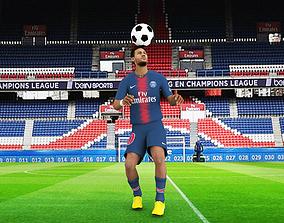 3D model Neymar rigged