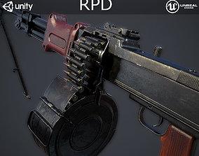 RPD Light Machine Gun 3D asset low-poly