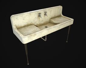 Antique Kitchen Sink 3D asset