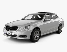 3D Mercedes-Benz E-class sedan with HQ interior 2010