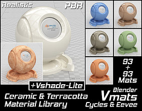 3D VMATS Ceramic and Terracotta Material Library for