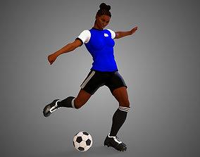 3D model African Football Soccer Player Female