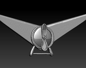 Badge Airplane art 3D print model