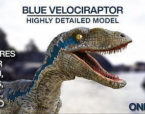 BLUE VELOCIRAPTOR JURASSIC WORLD 3D model