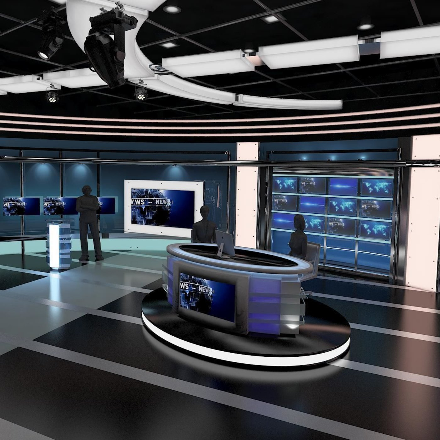 TV Virtual News Studio 027
