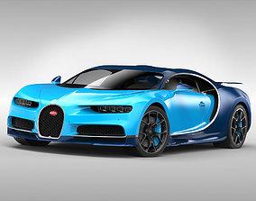 Bugatti Chiron 2017 hypercar 3D