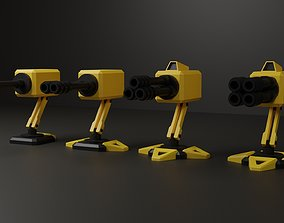 Tower Defense 3d tower pack realtime