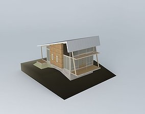 house 3D model Small vacation cottage