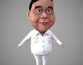 3D asset Prabowo