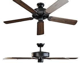 3D ALOHA Brown ceiling fan