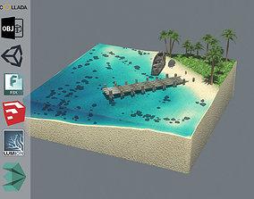 3D model Cube Beach