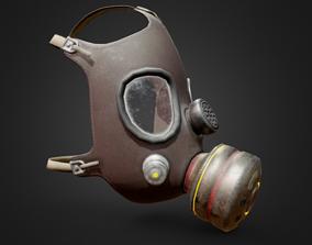 Gas Mask scifi 3D asset low-poly