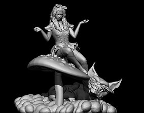 3D printable model Alice and cat