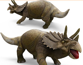 animated Realistic Triceratops Rigged Animated 3D